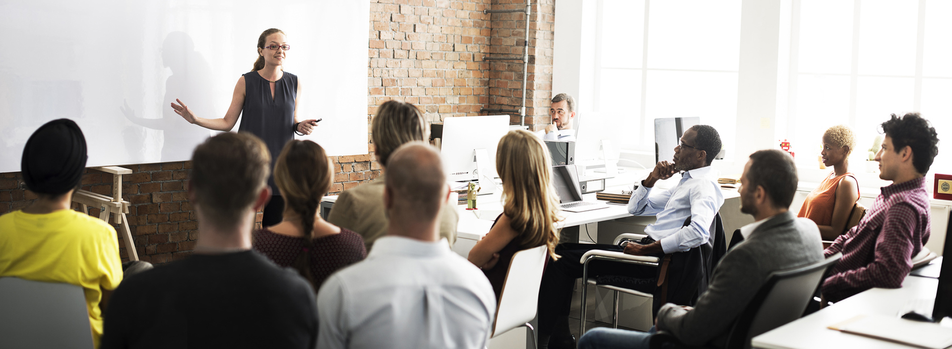 Professionals in a classroom